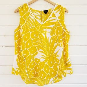 Worthington large pineapple print sleeveless top